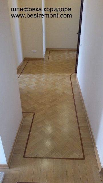 шлифовка коридора с углами