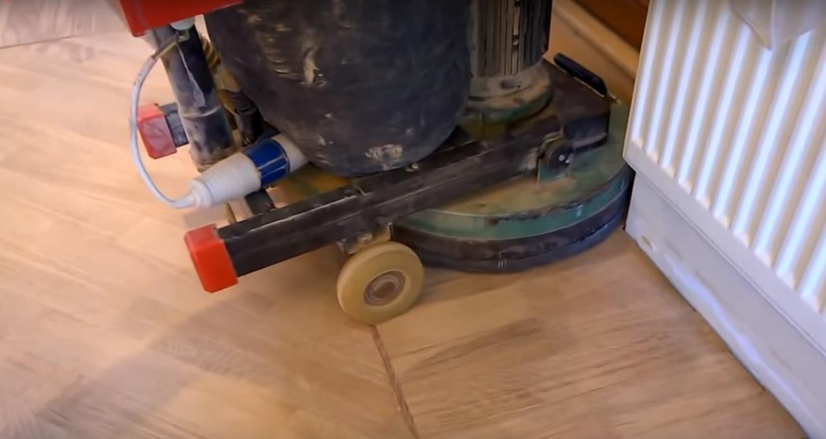 Шлифовка дисковой машиной